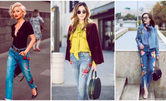 Pantalones bordados, ¡aprende a combinarlos con estos looks!