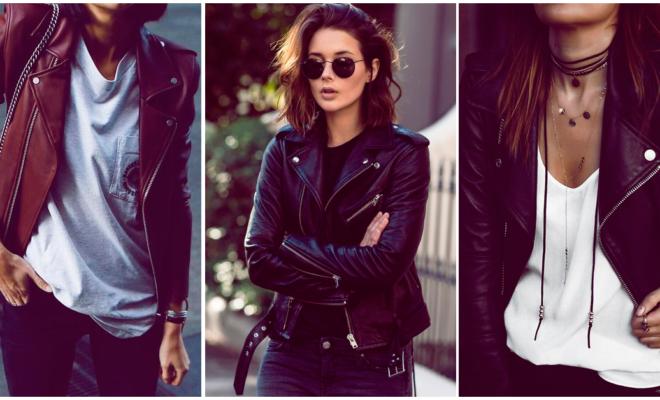 Una chaqueta de cuero no puede faltar en tu armario