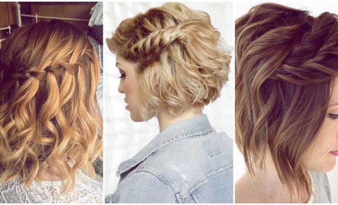 Peinados con trenzas chicas con cabello super cortito
