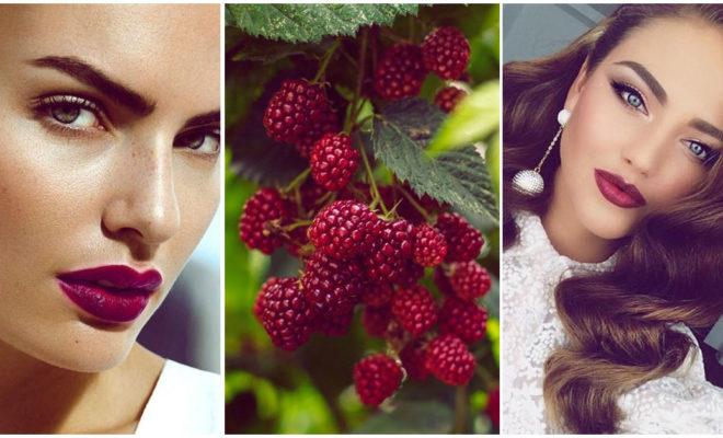 Labios color frambuesa, los más lindos para lucir de día