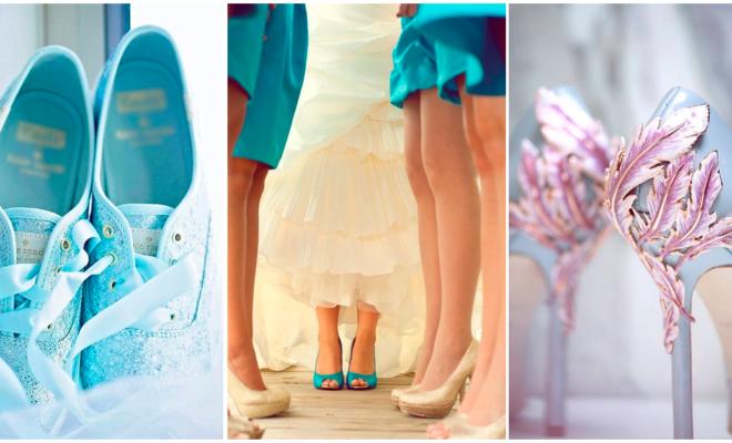 Zapatos encantadores y fuera de lo común para tu boda