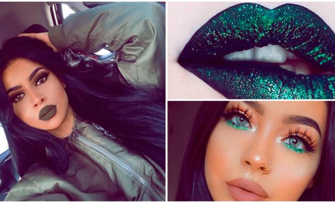 Maquillaje en tonos verdes para lucir más guapa