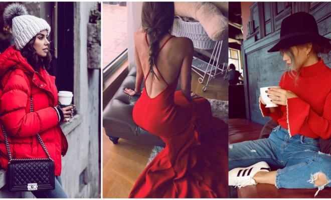Prendas en color rojo con las que lucirás hermosa