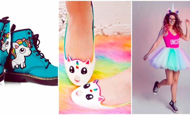 Divinos zapatos que amarán las amantes de los unicornios  🦄❤️