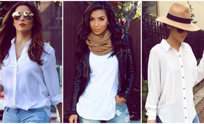 Blusas de color blanco perfectas para salir de día