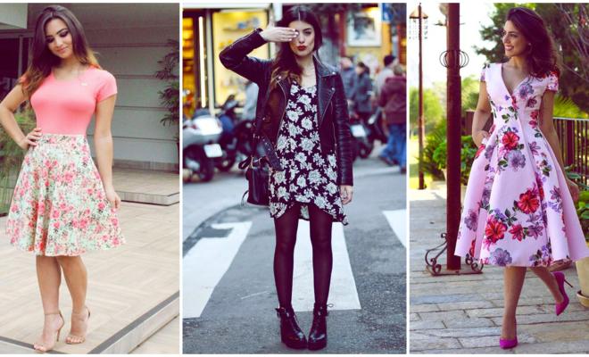 Vestidos florales ideales para lucir en otoño y en cualquier otra época