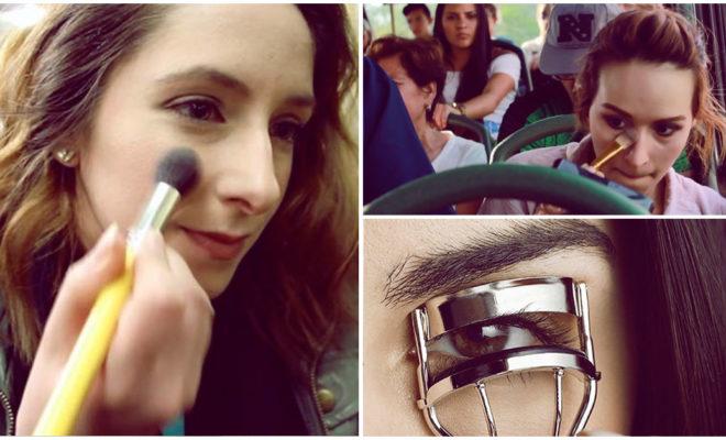 ¡Aprende a maquillarte en el transporte público!