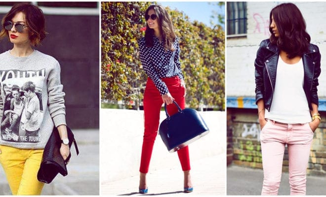 Cómo combinar tus pantalones de colores