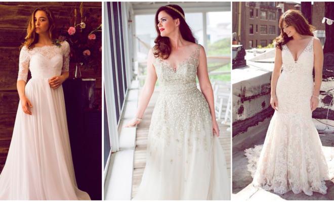 Escotes y vestidos de novia ideales para chicas curvy
