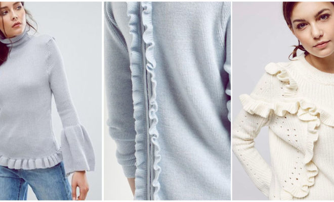 Suéteres con holanes super femeninos y calientitos