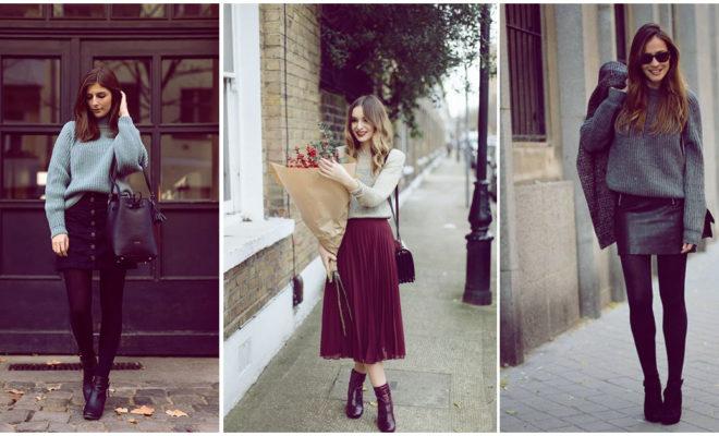 Combina tus suéteres con todas tus faldas: ¡hermosos y calientitos!