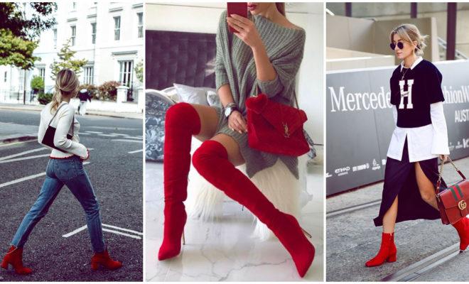 Razones para tener unas botas rojas en tu guardarropa