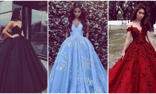 Hermosos vestidos de gala para la época de frío