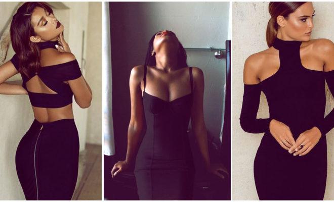 Vestidos negros pegaditos: ¡así se usan!