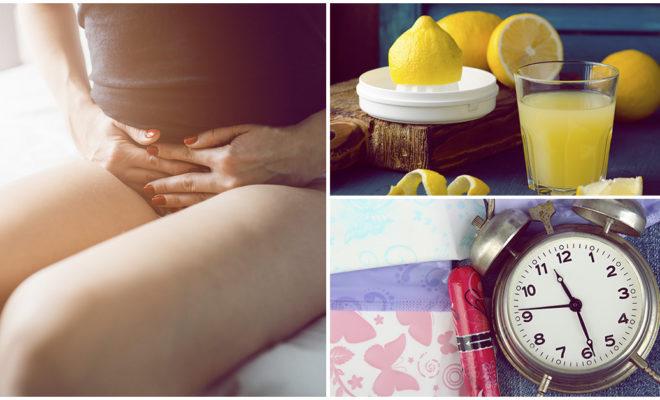 ¿Tomar jugo de limón realmente te corta la regla?