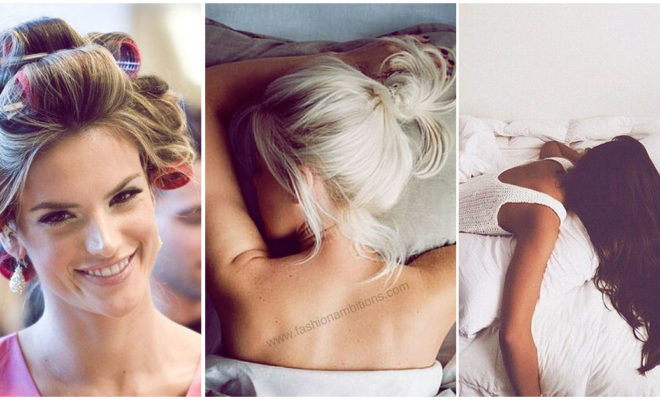 ¡No lo hagas!: estas son algunas consecuencias de dormir con el cabello recogido