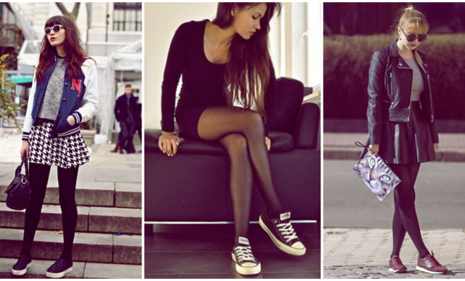 Tenis y medias son compatibles en el mismo outfit