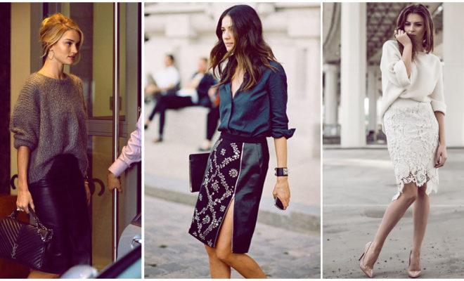 Cómo usar una falda lápiz en una fiesta de día o de noche