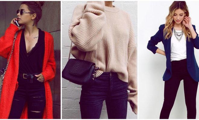 Sé la chica más sofisticada; estas son algunas formas de combinar tus jeans negros