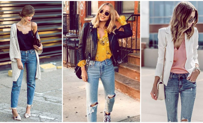 Cuatro outfits con un solo par de jeans