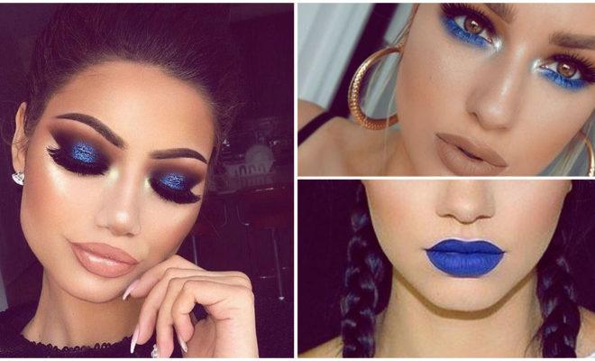 Maquillaje en tonos azules para las chicas más atrevidas
