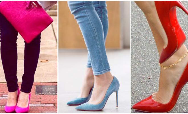 Tacones de colores para darle un twist a tu outfit
