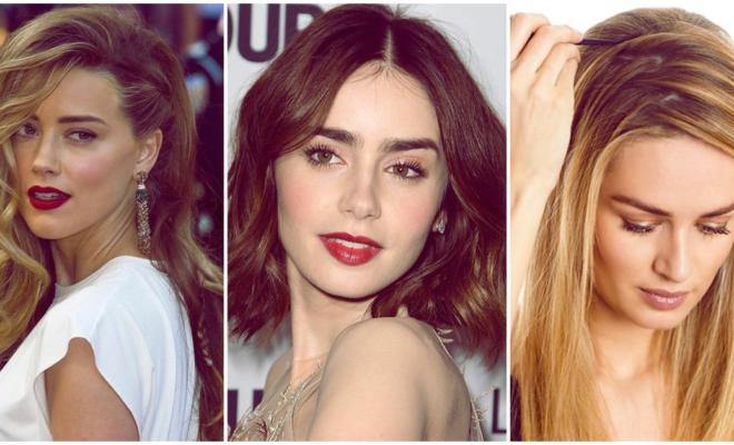 La raya de cabello que mejor le va a la forma de tu rostro