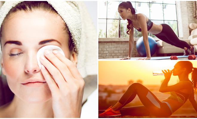 Rutina de belleza para antes y después del ejercicio