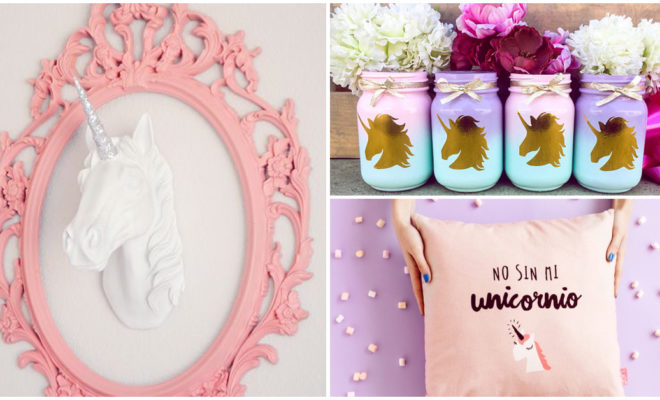 Cómo decorar tu cuarto con bellos unicornios