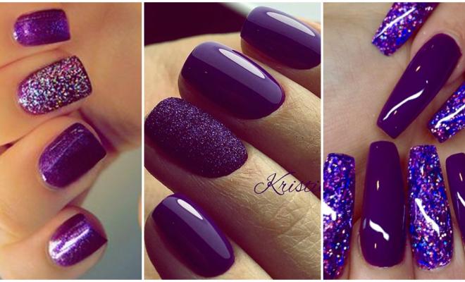 Encantadores diseños de uñas en color morado que querrás tener en tus manos