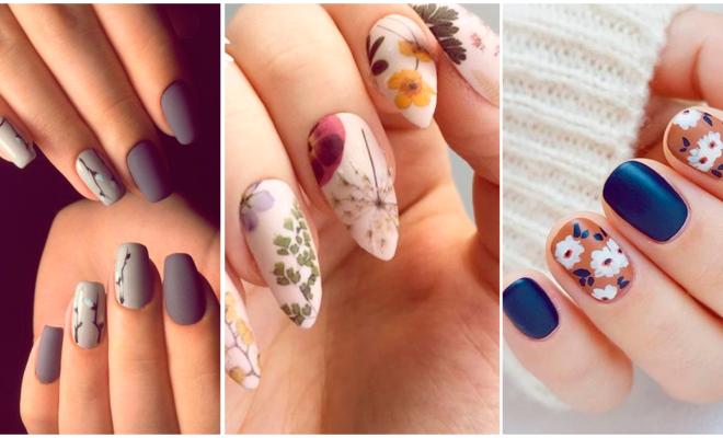 Manicuras florales para las chicas más femeninas