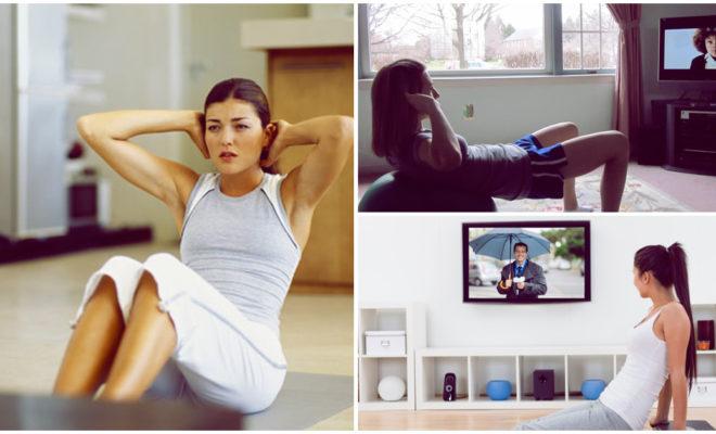 Ejercicios que puedes hacer mientras ves televisión