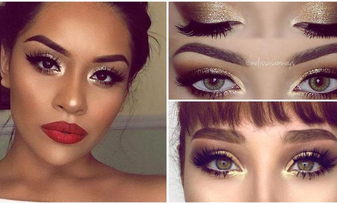 Hermoso makeup en tonos dorados paso a paso