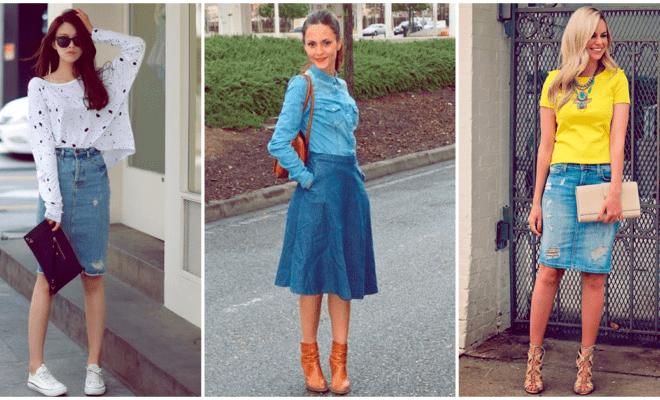 Cómo crear un outfit de diez con una falda de mezclilla