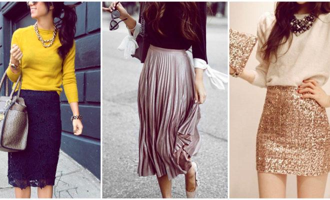 Hermosas faldas que puedes usar en tu cena navideña
