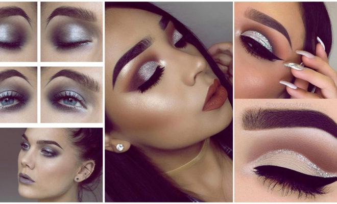 Silver makeup para usar el día de Navidad y verte a la moda