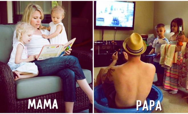 Situaciones en las que mamá y papá son completamente opuestos
