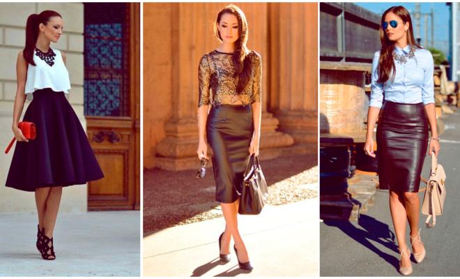 Consigue 5 looks de fiesta con una falda negra
