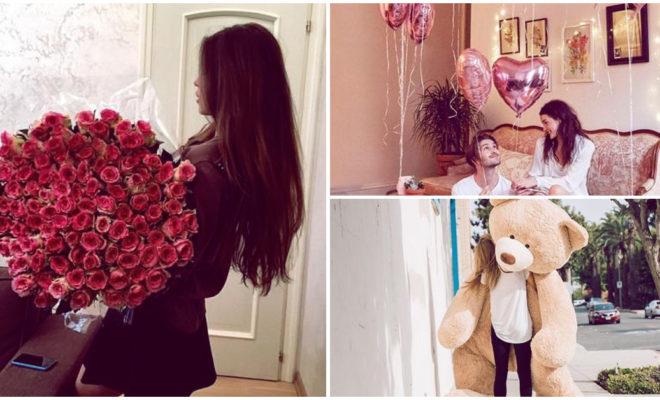 Ideas de fotos para tomarte con tu regalo del 14 de febrero