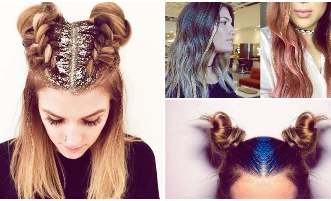 ¡Llena tu cabello con glitter y luce genial!
