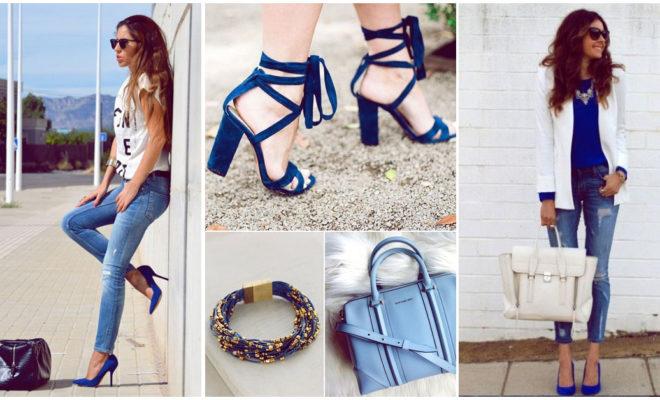 Zapatos azules y cómo puedes combinarlos para lucir sexy