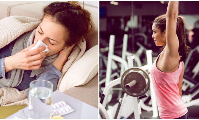 Ir al gym aunque tenga gripe, ¿sí o no?