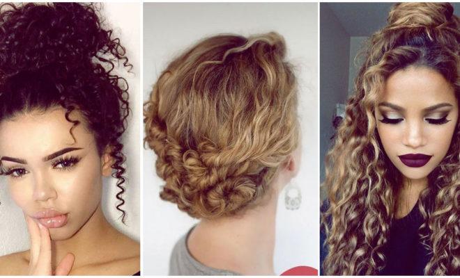 Peinados super sencillos y bonitos para las chicas con cabello rizado
