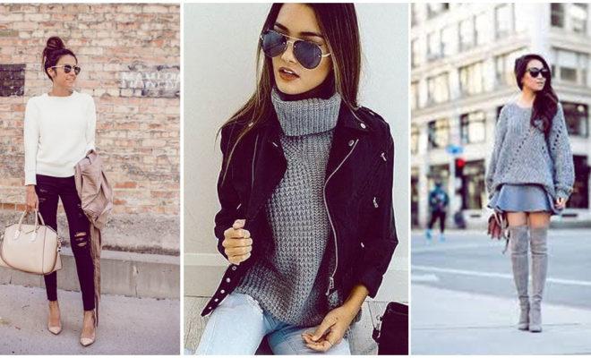 Porque todavía hace frío, podemos seguir usando nuestros suéteres así