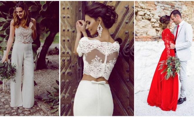 Outfits alternativos para las novias poco convencionales