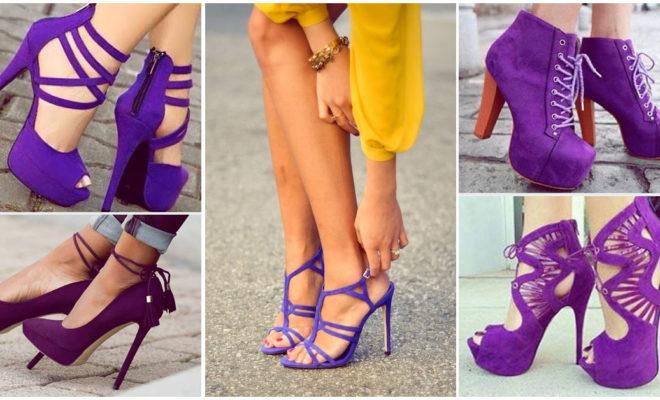 Hermosas zapatillas del color del año: ¡violeta!