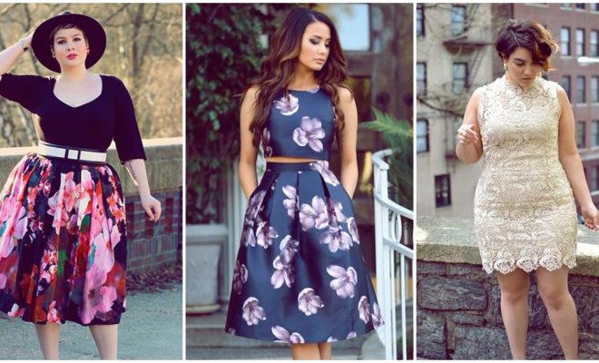 Vestidos floreados para chicas curvy