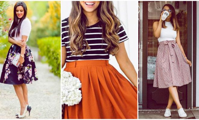 Faldas que acentúan a la perfección la figura de las chicas curvy