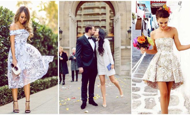 Vestidos de boda ideales para casarse por lo civil