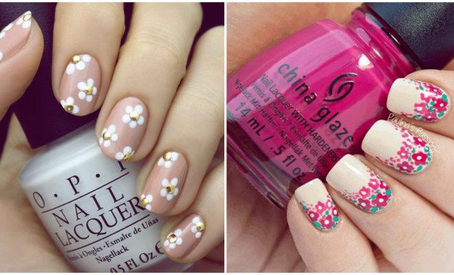 Pinta tus uñas con flores en casa y en un dos por tres